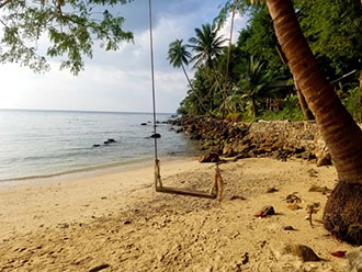 Inviting swing on Koh Phangan Island